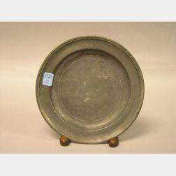 Thomas D. Boardman Pewter Plate.