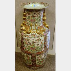 Chinese Export Porcelain Rose Medallion Floor Vase