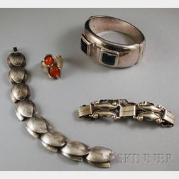 Four Sterling Silver Jewelry Items