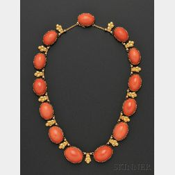 18kt Gold and Coral Necklace, Buccellati