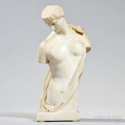 Italian School, 19th Century   White Marble Figure of a Classical Male Nude