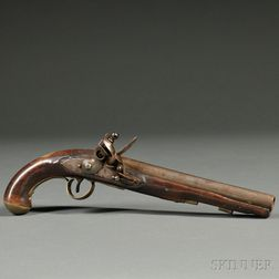 Ketland Marked Flintlock Pistol