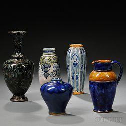 Five Royal Doulton Stoneware Items