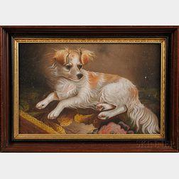 John J. Enneking (American, 1841-1916),      Portrait of a Spaniel.