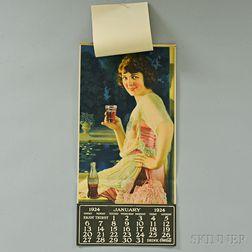 1924 Coca-Cola Complete Calendar