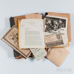 Mears, Mary (1870-1940) A Large Archive: Screenplays, Novels, Correspondence, and Other Material.