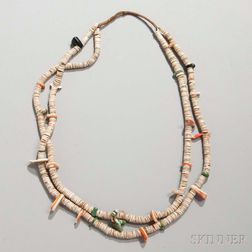 Santo Domingo Heishi Shell Necklace