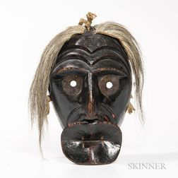Carved and Painted Iroquois False Face (Spoon Mouth)