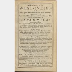 Gage, Thomas (1603?-1656) A New Survey of the West-Indies: or, the English American his Travel by Sea and Land: Containing a Journal of