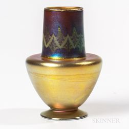 Tiffany Studios Purple and Gold Favrile Tel-el-Amarna Vase