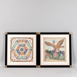 Two Stamp Art Pictures