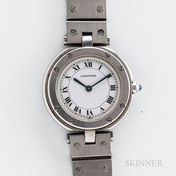 Stainless Steel Cartier Santos Vandome Reference 8192 Wristwatch