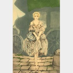 Louis Icart (French, 1888-1950)  Lot of Two Costume Pieces:  Manon