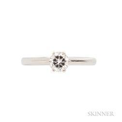 Platinum and Diamond Ring, Asprey
