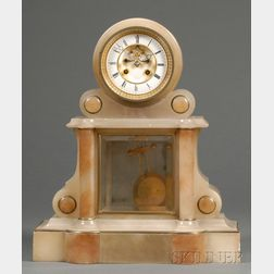 French Alabaster Table Regulator