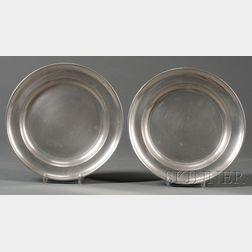 Two Boardman & Co. Pewter Plates