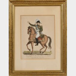 Military Print of Prince Louis Joseph de Bourbon