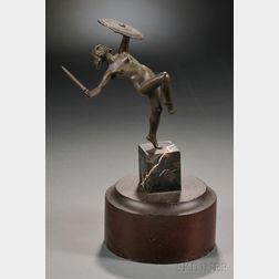 Art Deco Bronze Figure of an Amazon