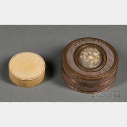 Two Circular Snuff Boxes