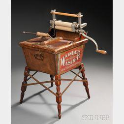 """WONDER WASHER"" Machine Salesman Sample with Vintage Photograph"