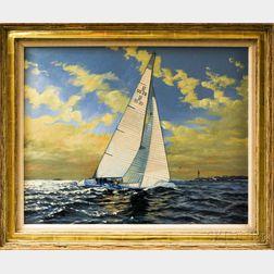 Ben Neill (American, 1914-2001)       Yachting Scene.