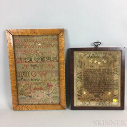 Four Framed 19th Century Samplers