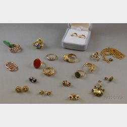 Small Group of Assorted Gold and Gemstone Estate Jewelry