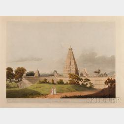 Henry Salt (English, 1780-1827)  Three Hand-colored Bookplate Engravings from Twenty-Four Views Taken i...