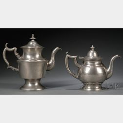 Two Pewter Teapots