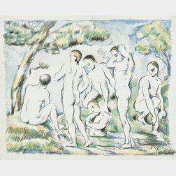Paul Cézanne (French, 1839-1906)      Les baigneurs - petite planche