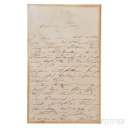 Schumann, Clara (1819-1896) Two Autograph Letters Signed.