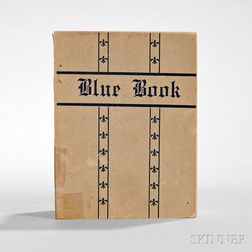 Blue Book,   [Directory and Guide to Prostitutes in the Sporting District of New Orleans].