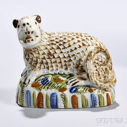 Pearlware Figure of an Exotic Animal