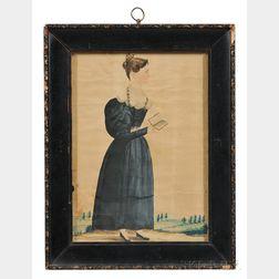 Jacob Maentel (Pennsylvania/Maryland/Indiana/Germany, 1763-1863)      Portrait of a Woman