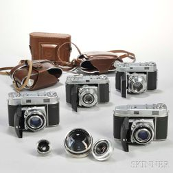 Four Kodak Retina Cameras and Three Additional Lenses