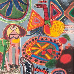 """Guillaume Cornelis van Beverloo, called """"Corneille"""" (Dutch, 1922-2010)      Un Oiseau traverse l'été"""