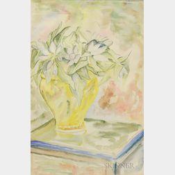 EE (Edward Estlin) Cummings (American, 1894-1962)    Flowers in a Yellow Vase