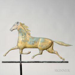 Molded Sheet Copper Trotting Horse Weathervane