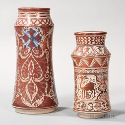 Two Hispano Moresque-type Vases