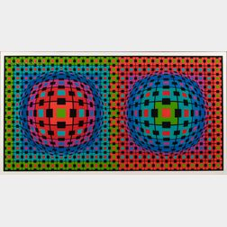 Victor Vasarely (Hungarian/French, 1906-1997)      Ionau