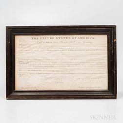 James Monroe Signed Ohio Land Deed