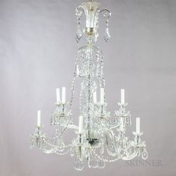 Cut Glass Ten-light Chandelier