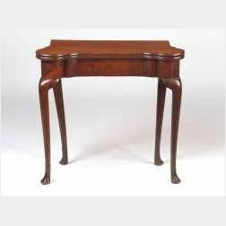 Queen Anne Mahogany Card Table