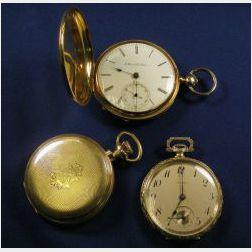 Three Gold Pocketwatches, Howard