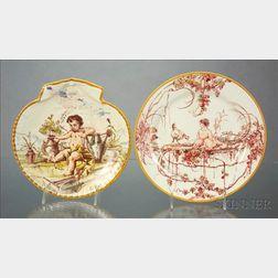 Two Wedgwood Emile Lessore Decorated Plates