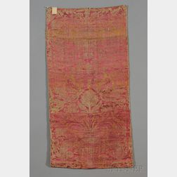 Group of French Brocade Textile Fragments