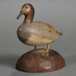 Carved Miniature Canvas Back Duck Decoy