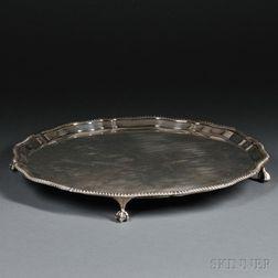 Edward VII Sterling Silver Salver