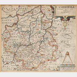 Cornwall, England. Joannes Jansson (1588-1664) Cornubia sive Cornwassia.