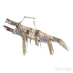 Lakota Beaded Hide Bow Case and Quiver